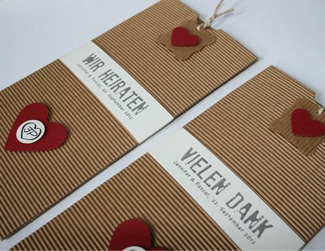 Hochzeitskarten Natur Und Rot ...