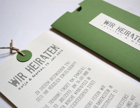 Hochzeitskarten: Werbeagentur Pfalz   Stepp Grafik:dokumentation, Einladung
